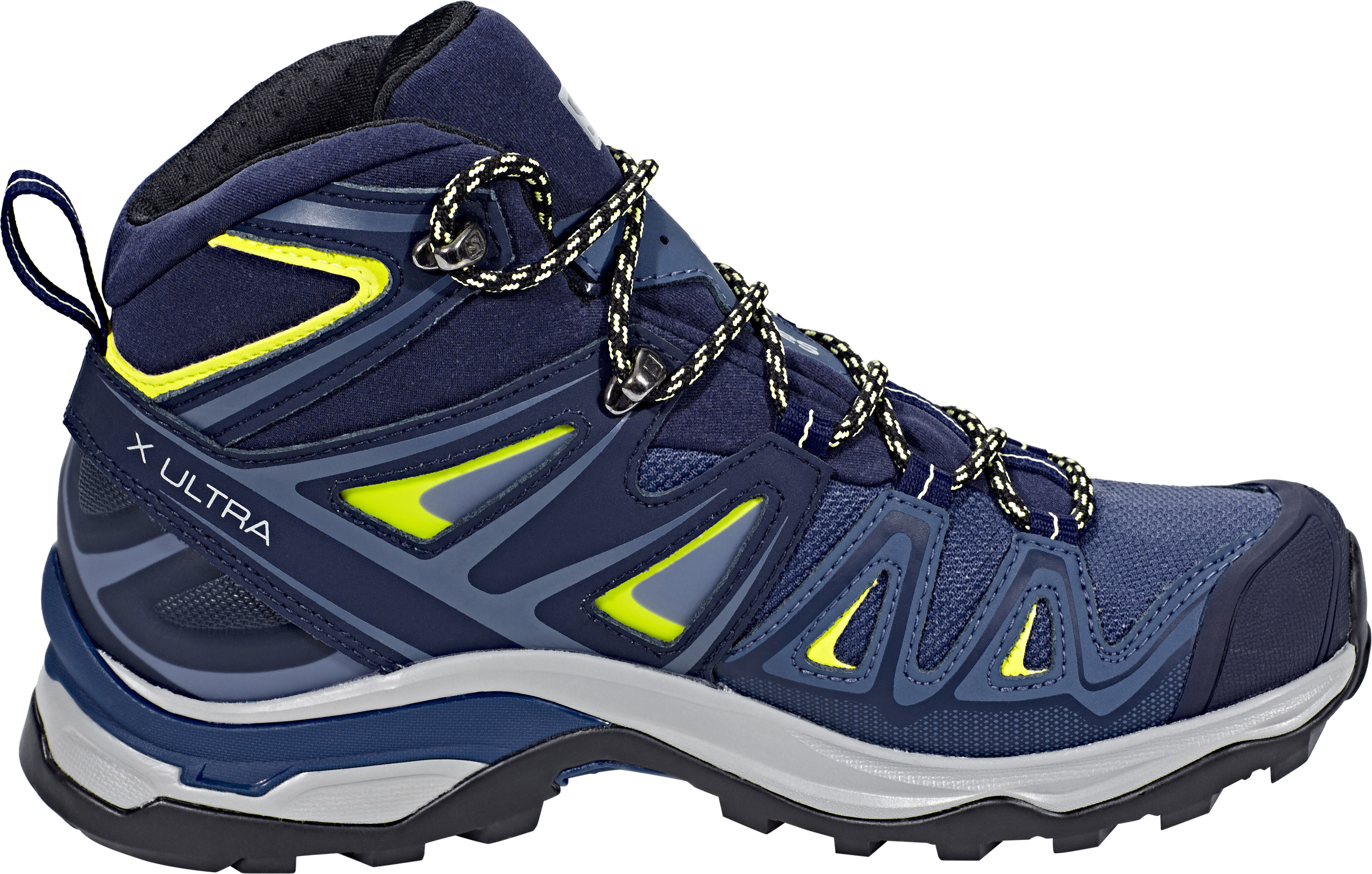 newest ba3bd a0165 Salomon X Ultra 3 Mid GTX Shoes Women crown blue/evening blue/sunny lime